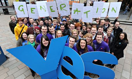 Photograph: Bill Fleming/Yes Scotland/PA